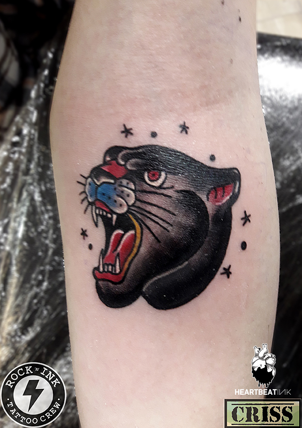 Rock n ink tattoo studio heartbeatink tattoo magazine for Old school panther tattoo