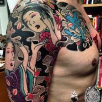 "Tattoo by Alex ""Kofuu"" Reinke Horikitsune / Holy Fox Tattoos"