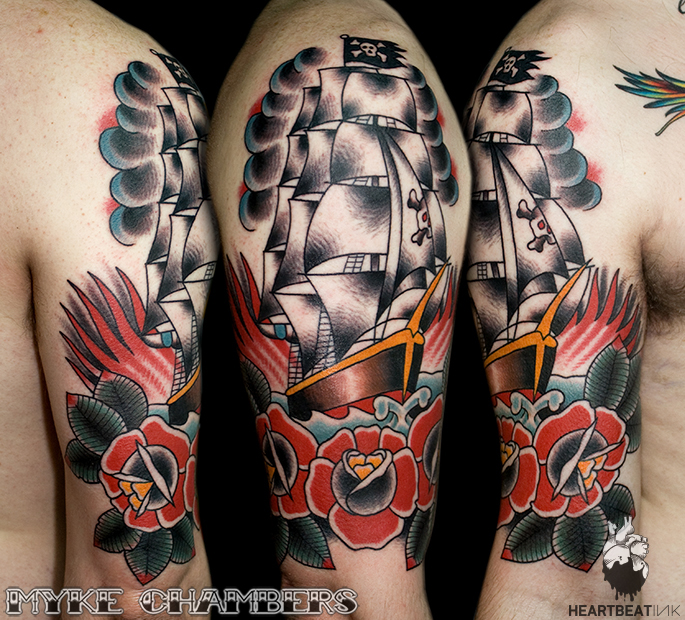 Pirate ship tattoo myke chambers