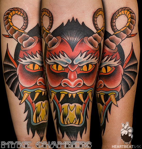 demon head tattoo myke chambers