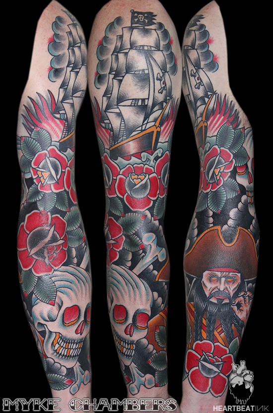 pirate sleeve tattoo myke chambers
