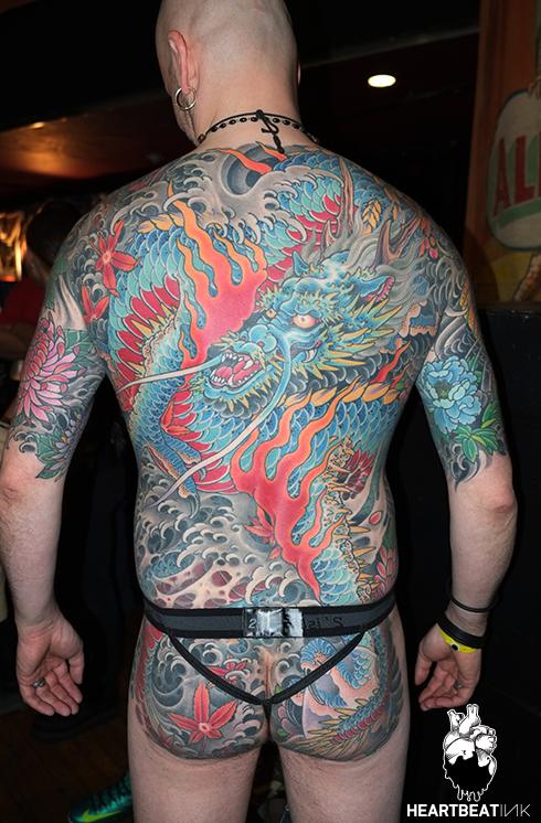 Artist jeremy miller gives jay rivera a tattoo